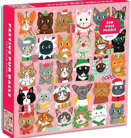 Holiday Puzzle 500 pc - Festive Furballs