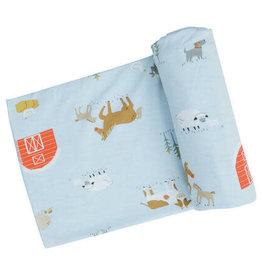 Angel Dear - Swaddle Blanket - Blue Farm Life
