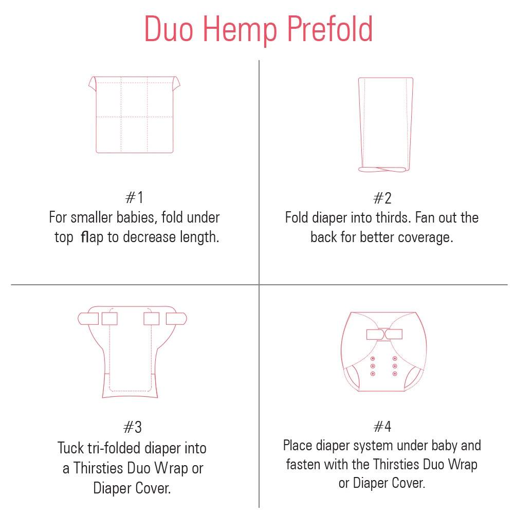 Thirsties Thirsties Duo Hemp Prefold