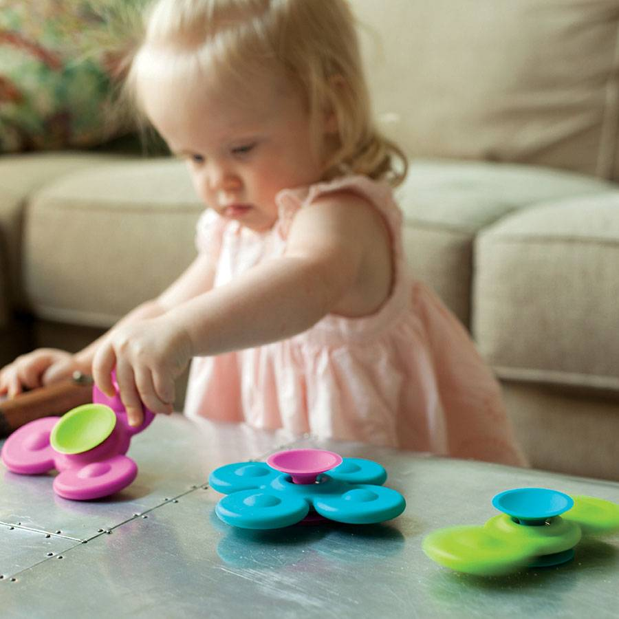 Whirly Squigz - safe to chew and fun to spin!