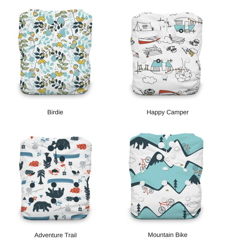 Thirsties Thirsties Natural One Size AIO Snap Prints