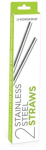 UKonserve Stainless Steel Straws (2 pack)