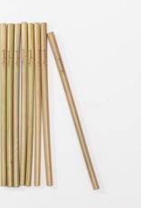 Reusable Bamboo Straws & Brush- 8 pack
