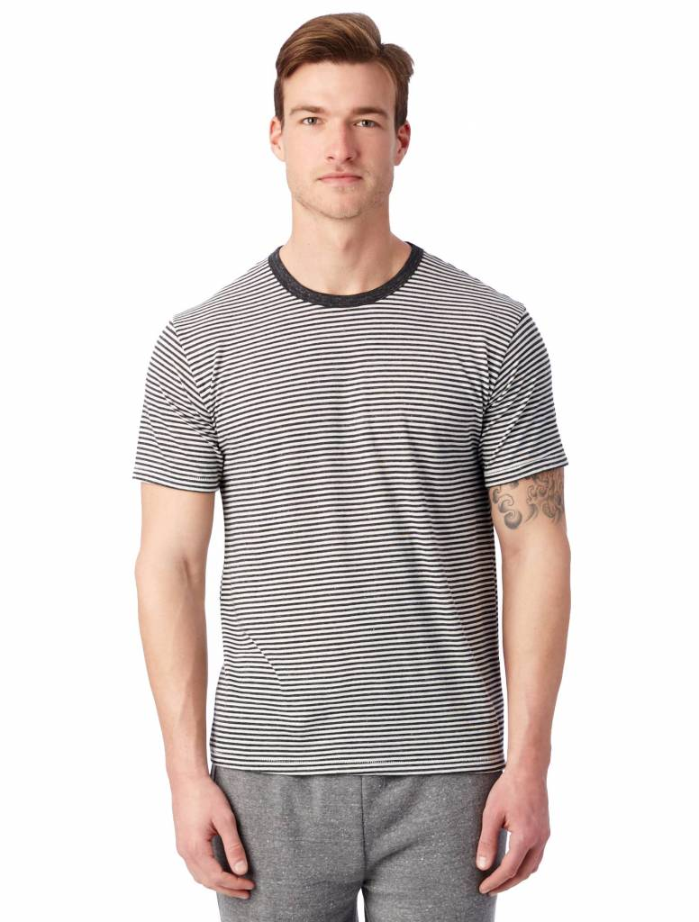 Alternative Apparel Striped Eco-Jersey Crew T-Shirt