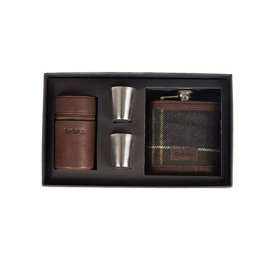 Barbour Barbour Tartan Hip Flask with 6 Cups