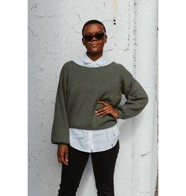 Free People Shadow Crew Sweater