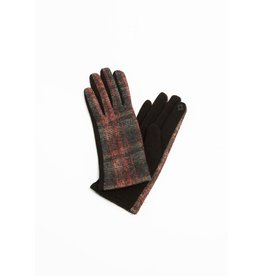 Look By M Brushed Plaid Glove