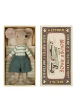 Maileg Big Brother Mouse Blue and White Stripe in Box
