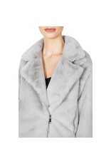 Apparis Apparis Faux Fur Biker Jacket - Cloud