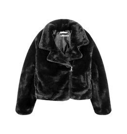 Apparis Apparis Faux Fur Biker Jacket - Black