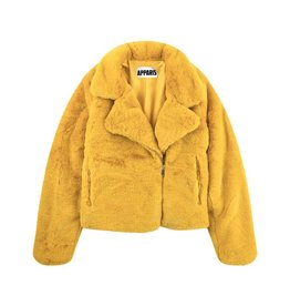 Apparis Apparis Faux Fur Biker Jacket - Marigold