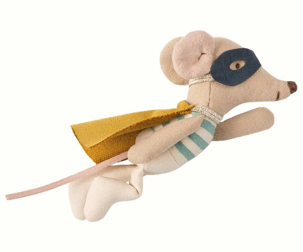Maileg New Super Hero Mouse In Suitcase