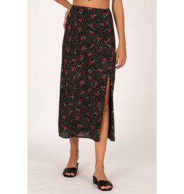 Amuse Society Villa High Waisted Midi Skirt