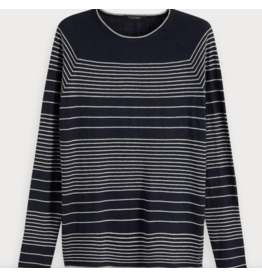 Scotch & Soda Striped Navy Raglan Pullover