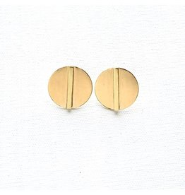 Ink + Alloy Small Brass Bar In Circle Post
