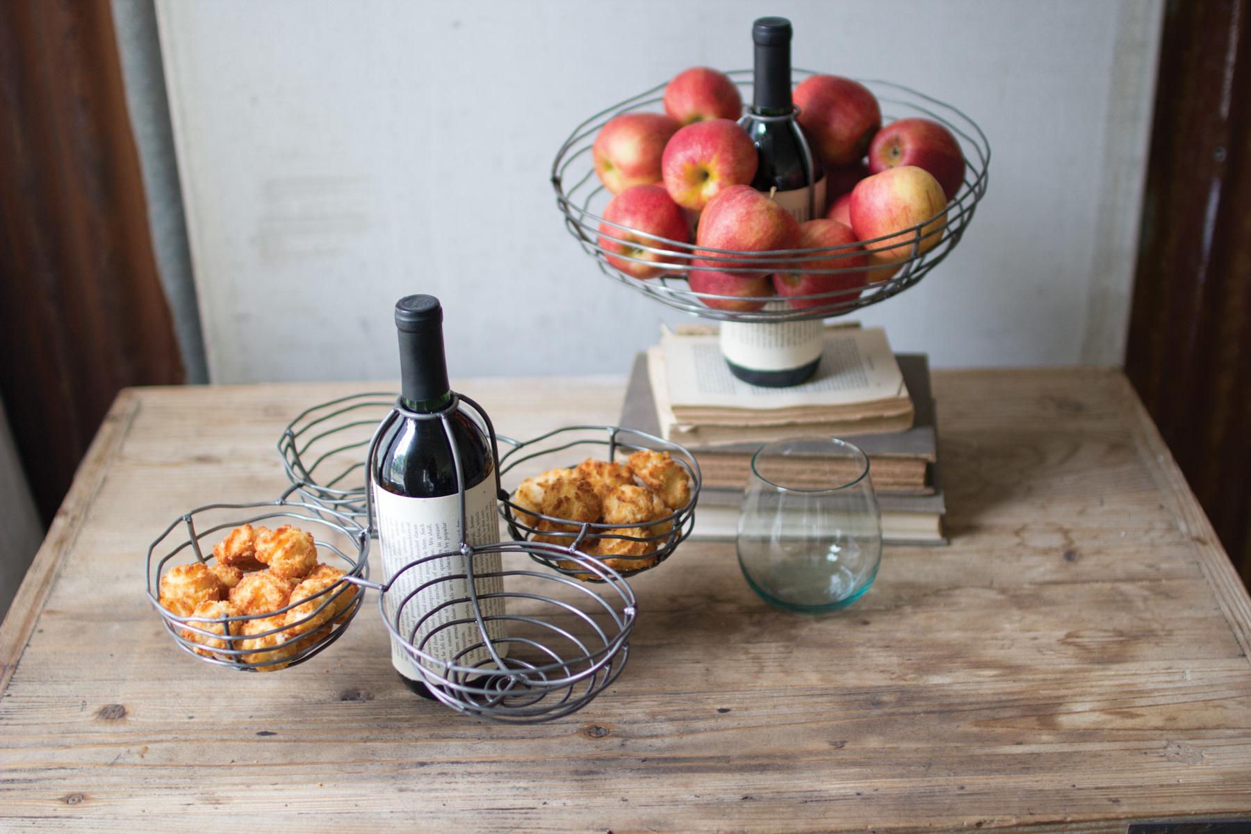 Kalalou Single Wire Wine Basket Topper