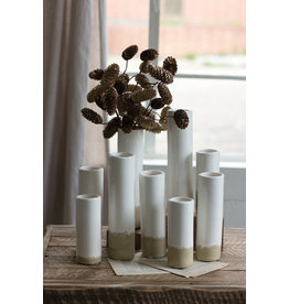 Kalalou Medium (Taller of the two) Ceramic Cylinder Bud Vase