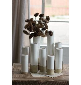 Kalalou Medium (Taller of the two) Ceramic Cylinder Bud Vase