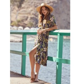 Lost + Wander Botanical Button Down Dress