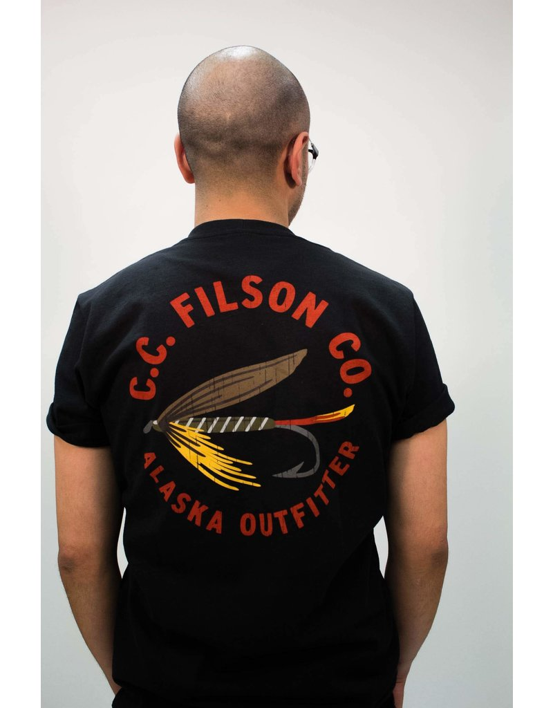 Filson Faded Black Tackle Graphic Tee