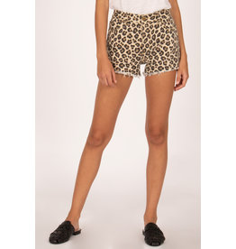 Amuse Society Leopard Shoreline Denim Short