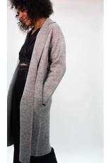 Look By M Wool Grey Collard Coatigan