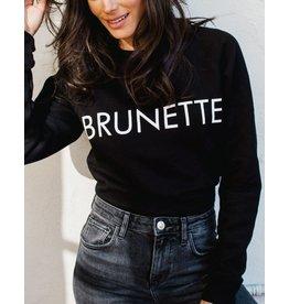 Brunette Brunette Black Crewneck