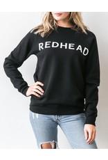 Brunette Redhead Black Crew Sweatshirt