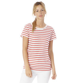 Alternative Apparel Eco Crew Pink Stripe Tee