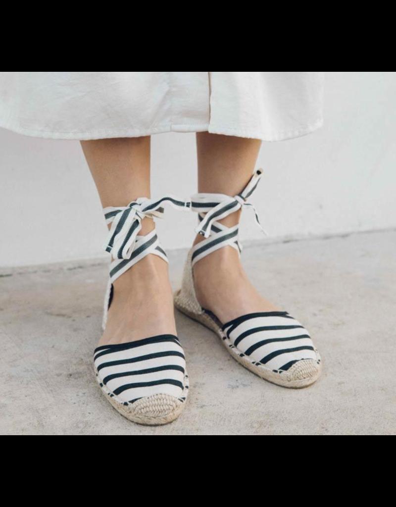 Soludos Stripe Ankle Wrap Espadrille