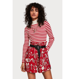Scotch & Soda Red and White Stripe Turtleneck