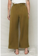 Back Beat Rags Avocado Tencel Paper Bag Pant