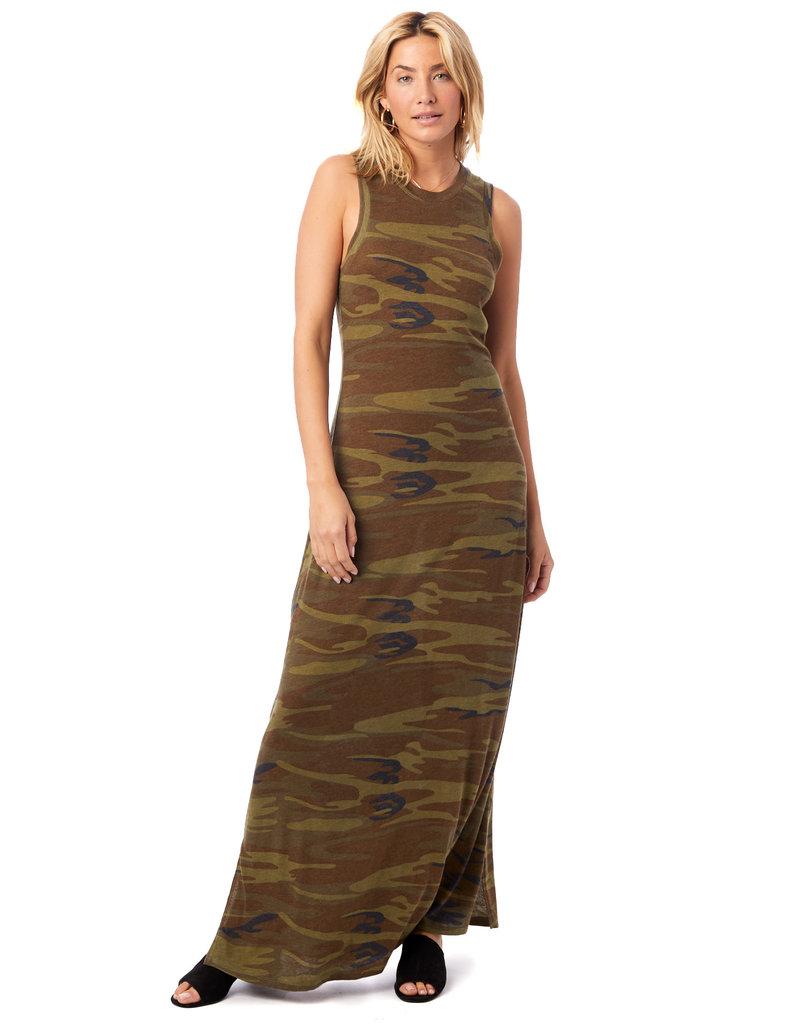 Alternative Apparel Eco Camo Maxi Dress