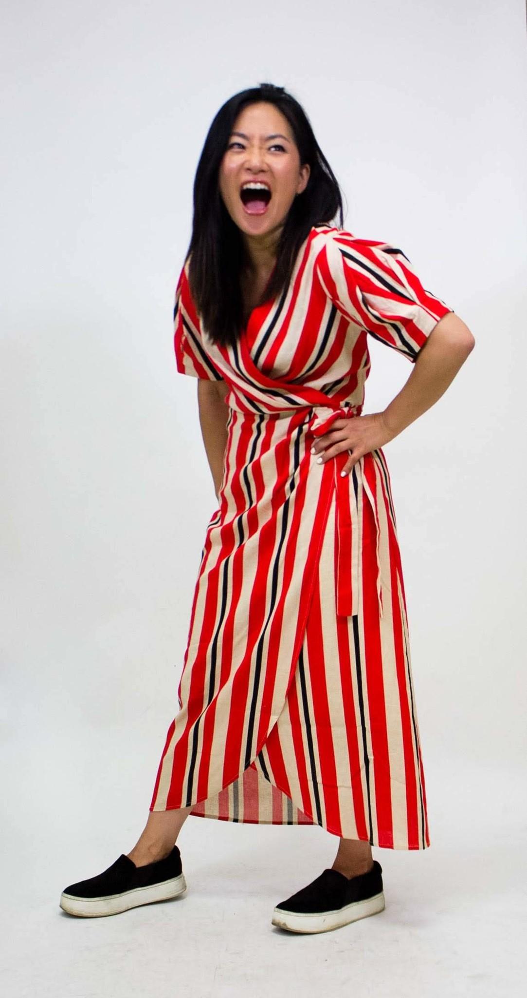 Robin K. Poppy Wrap Dress