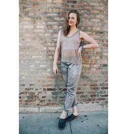 Milk Handmade Chicago Spotted Taupe Joggers