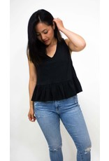 Comune Worthington Frill Black Crop