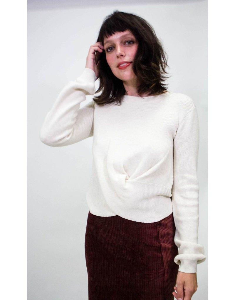 525 America Twist Top Ecru Sweater