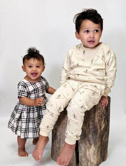 Rylee and Cru Check Kat Dress