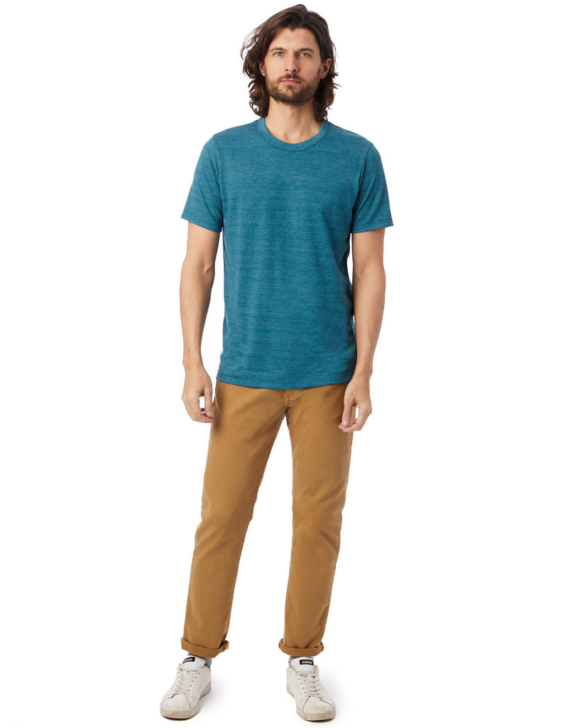 Alternative Apparel True Alpine Teal Eco Crew T-Shirt