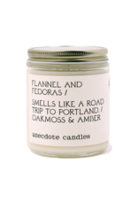 Anecdote Candles Flannel & Fedoras 7.8 oz