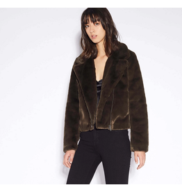 Apparis Tukio Army Green Faux Fur