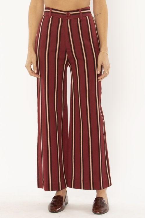 Amuse Society Millie Woven Strip Pant