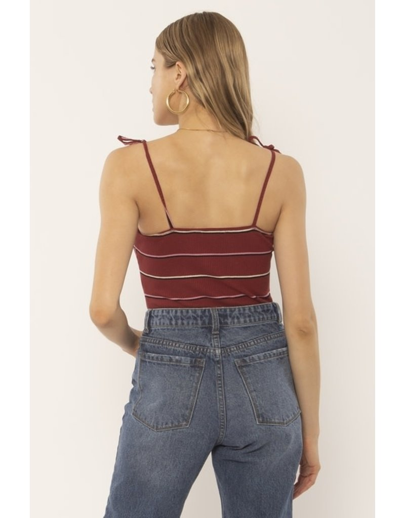 Amuse Society Prima Stripe Bodysuit