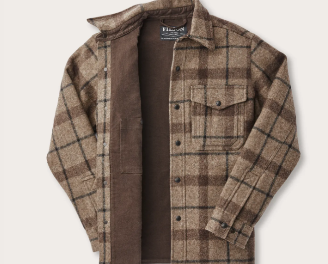 Filson Mackinaw Taupe Plaid Jac- Shirt