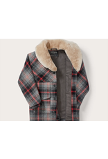 Filson Lined Wool Grey and Black Plaid Packer Coat