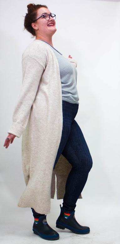 Trim & Tailor Birch Willa Duster Sweater
