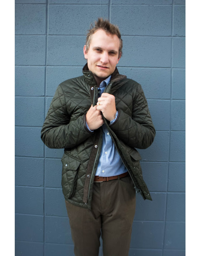 Barbour Evanton Sage Quilt Jacket