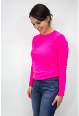 525 America Hot Magenta Crew Cashmere Sweater