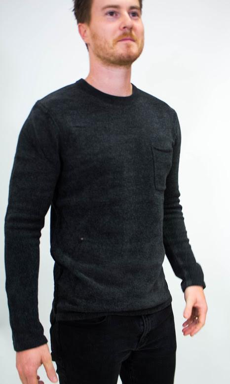 Scotch & Soda Chenille Crewneck Chestpocket Sweater