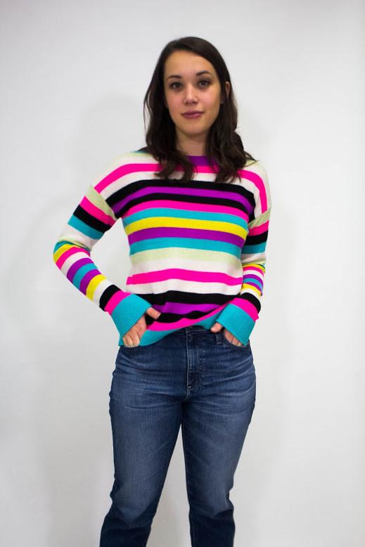525 America Stripe Cashmere Sweater